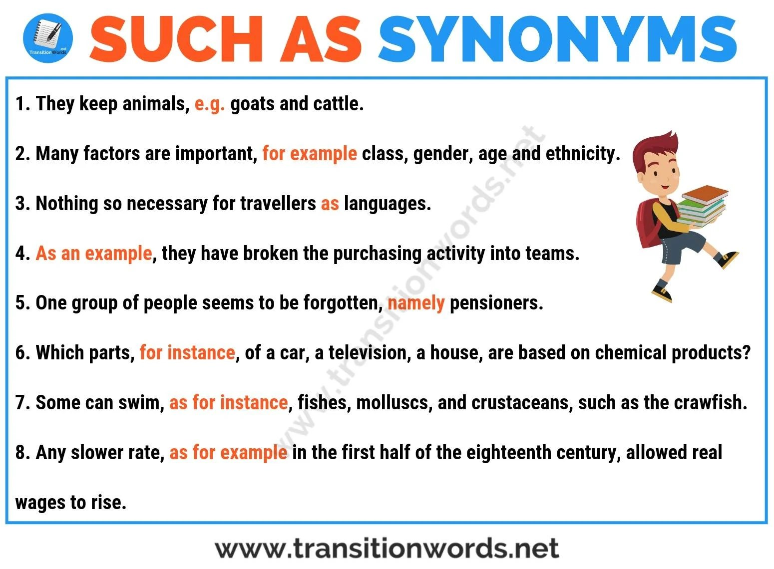Such As Synonym 30 Useful Synonyms For Such As With