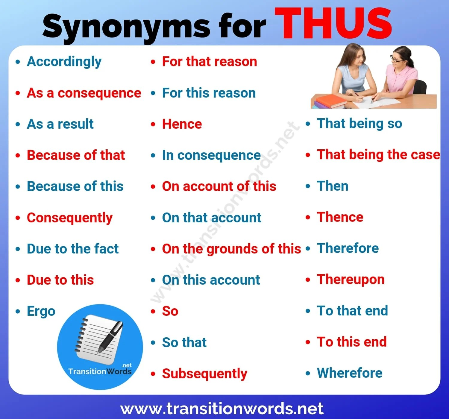 Thus Synonym List Of 29 Important Synonyms For Thus With