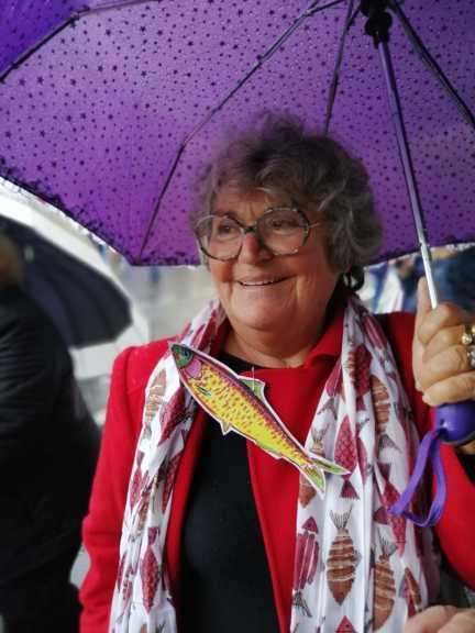 En fargeglad demonstrant. Foto: Eva-Kristin Urestad Pedersen / Transit magasin