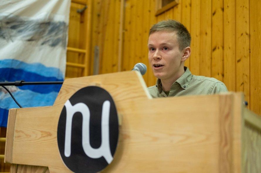 Gaute Eiterjord, avtroppende leder i Natur og Ungdom