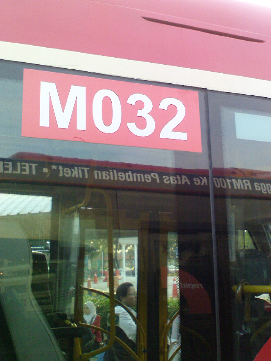 This sticker shows that this bus is Mercedes Benz bus/chassis 032