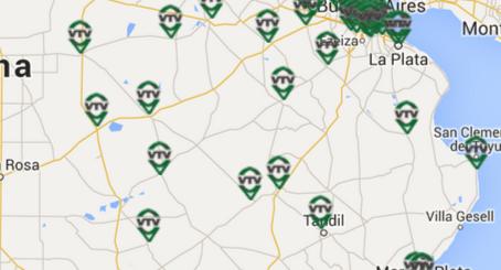 Mapa plantas VTV Provincia