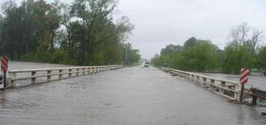 Ruta 33 inundada por crecida del Río (Foto: 7diasdigitital)