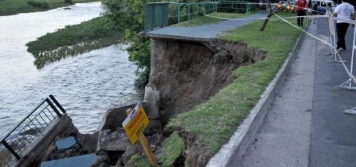 Derrumbe Puente Zípoli (Foto: LaVoz)