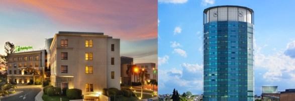 Fotomontaje Hotel Sheraton y Holiday Inn (Imágenes: Turismo Municipalidad de Córdoba)