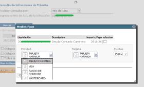Pagar con tarjeta de credito multa de transito de Policia Caminera de Cordoba - 2