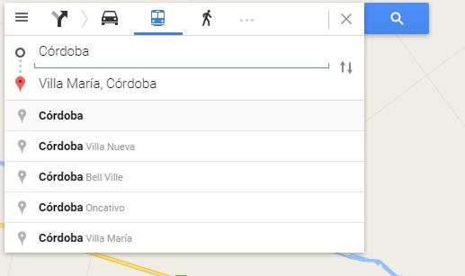 Como llegar - Google Maps - Villa Maria Cordoba