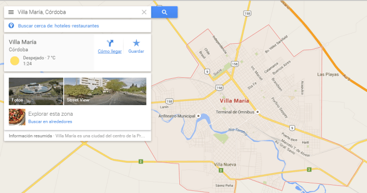 Como llegar - Google Maps - Villa Maria