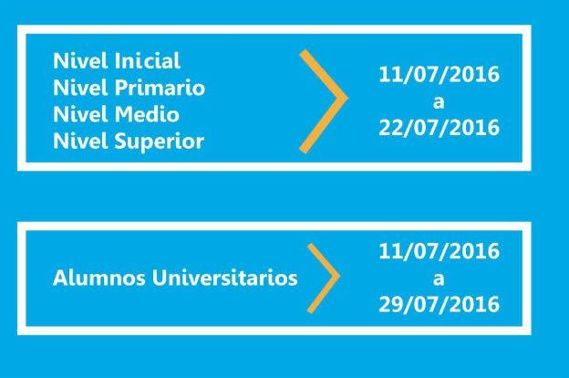 Boleto Educativo Gratuito 2016 - Receso de invierno