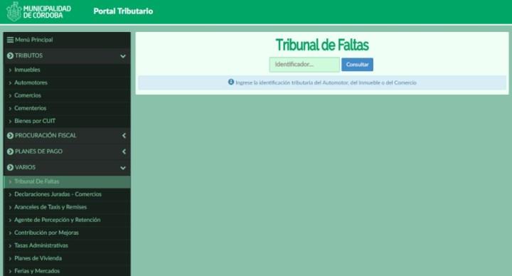 multas de transito municipalidad de cordoba capital municipales infracciones