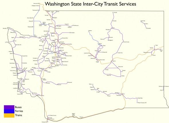 A Map of Transit Across Washington State Transit 509