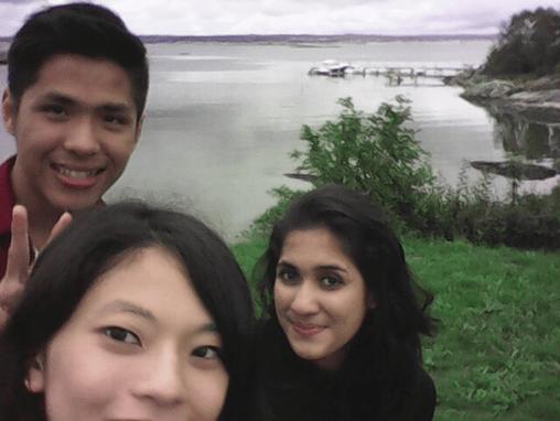 写真7.仲の良かったマレーシアから来ていた留学生の子たちと