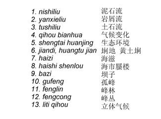 Chinese-English Environmental Terminology