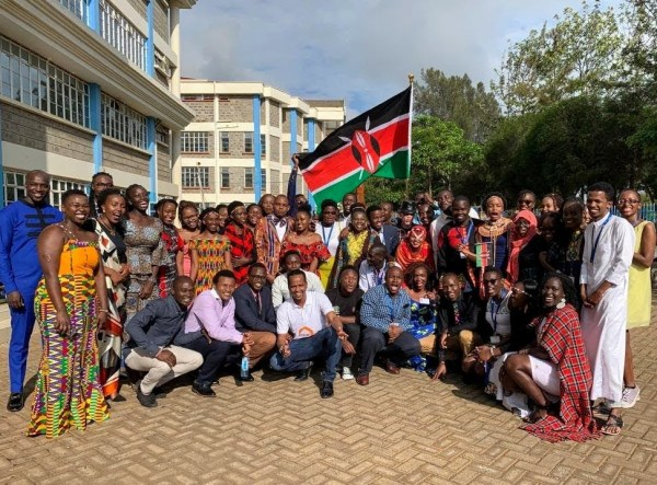 A group of YALI network members in Nairobi.