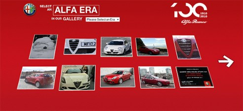 If you own an Alfa then you can join the visual celebration of Alfa's 100th anniversary.