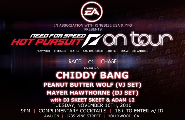 Need For Speed Hot Pursuit Launch Party Invite