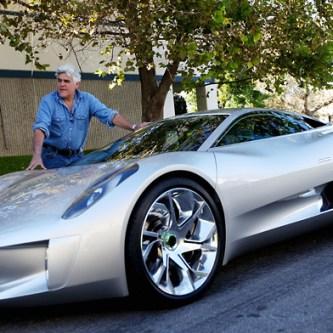 Jay Leno reviews the Jaguar C-X75 Concept
