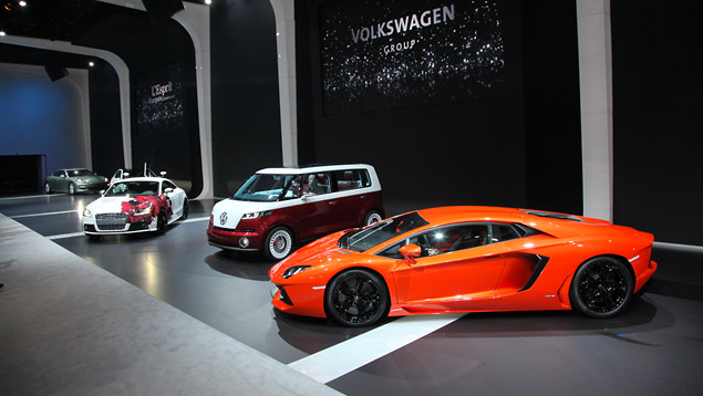 Lamborghini Aventador LP700-4 at the VW Group pre-show party