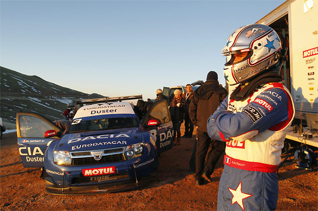 Jean-Philippe Dayraut ponders the enormity of the Pikes Peak Hill Climb challenge