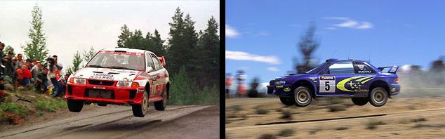 Subaru Impreza versus Mitsubishi Evo