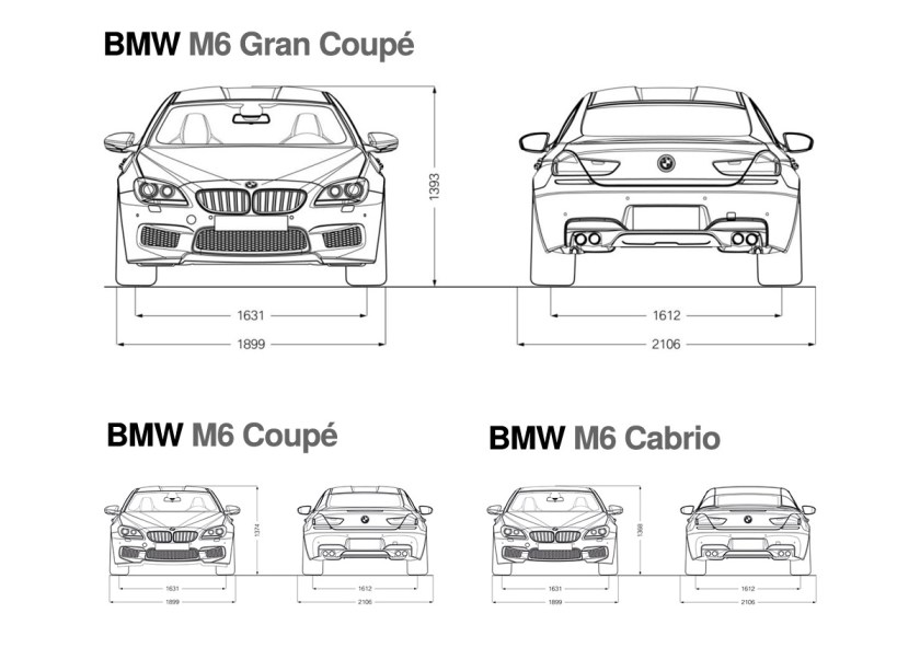 BMW M6 Comparison - Front and Rear