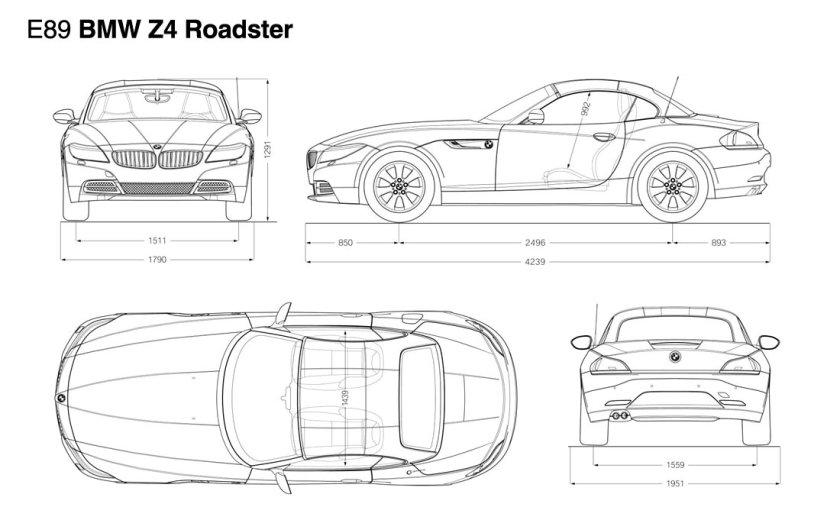 BMW-Z4-wireframe