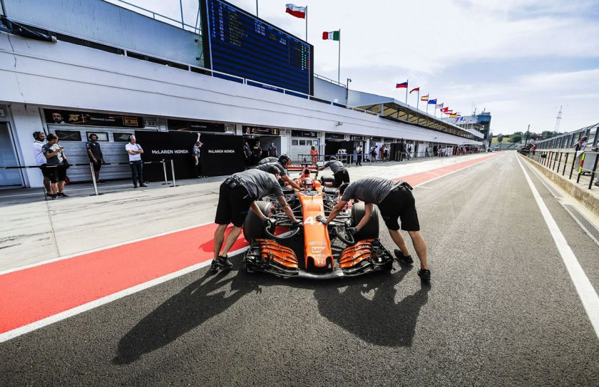 Lando Norris testing for McLaren Honda