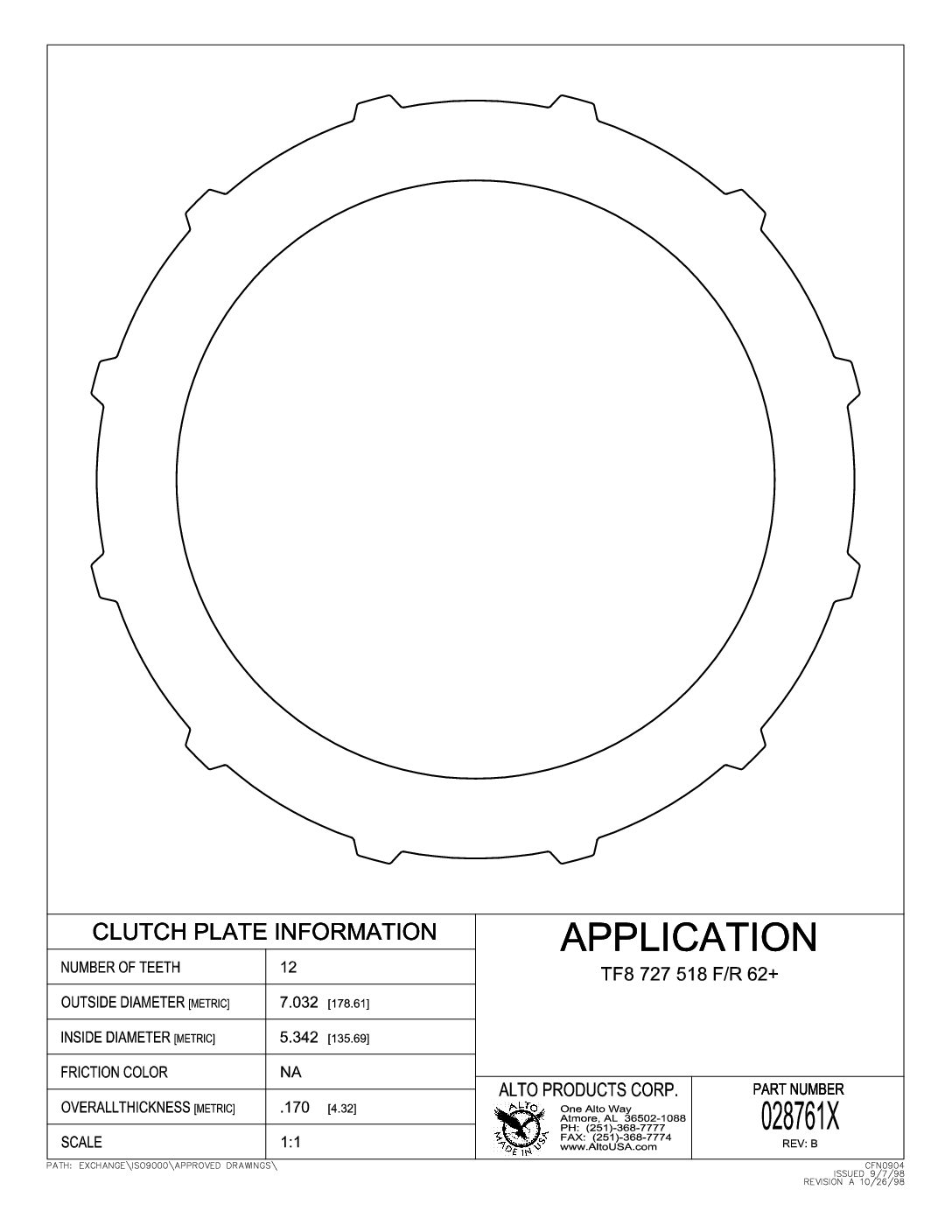 hight resolution of  028761x 727 46re 47re 48re flat backing plate 170 foward and direct with snap ring