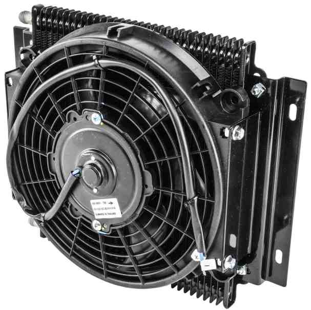 Jegs high performance transmission cooler with fan
