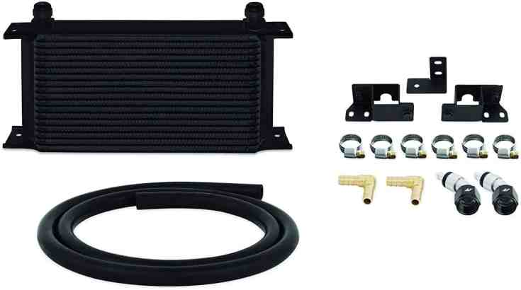Mishimoto Jeep Wrangler JK Transmission Cooler - Black - Transmission Cooler Guide
