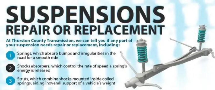 Suspension Engineering and Repair or Replacement Lacey Olympia WA Washington