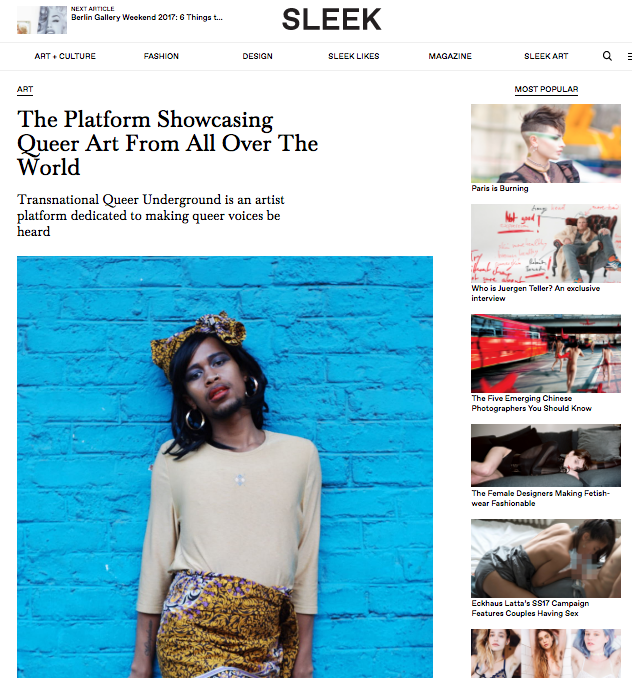 The Platform Showcasing Queer Art From All Over The World – sleek mag