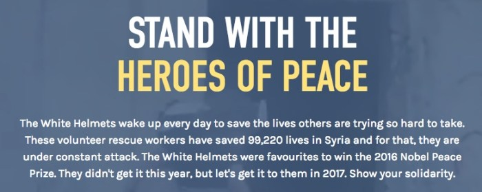 Just how grey are the White Helmets and their backers?