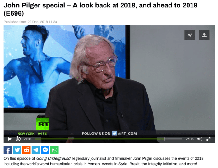 John Pilger special – A look back at 2018, and ahead to 2019