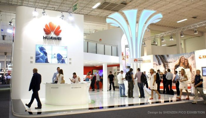 Huawei: Rises after US ban