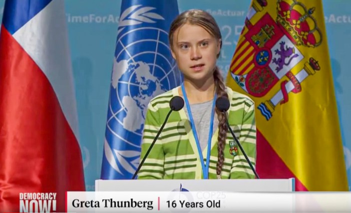 Greta's most important speech? Next step?