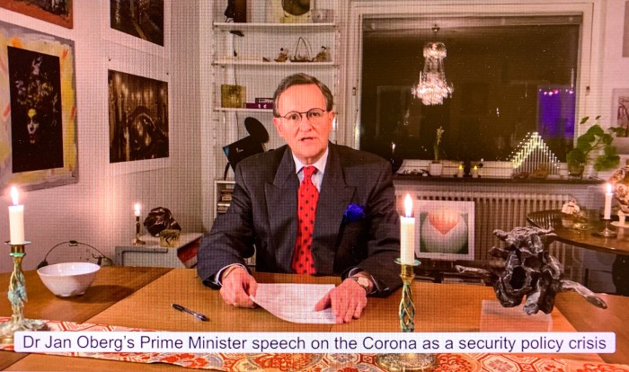 Jan Oberg's Prime Minister Speech on the Corona crisis