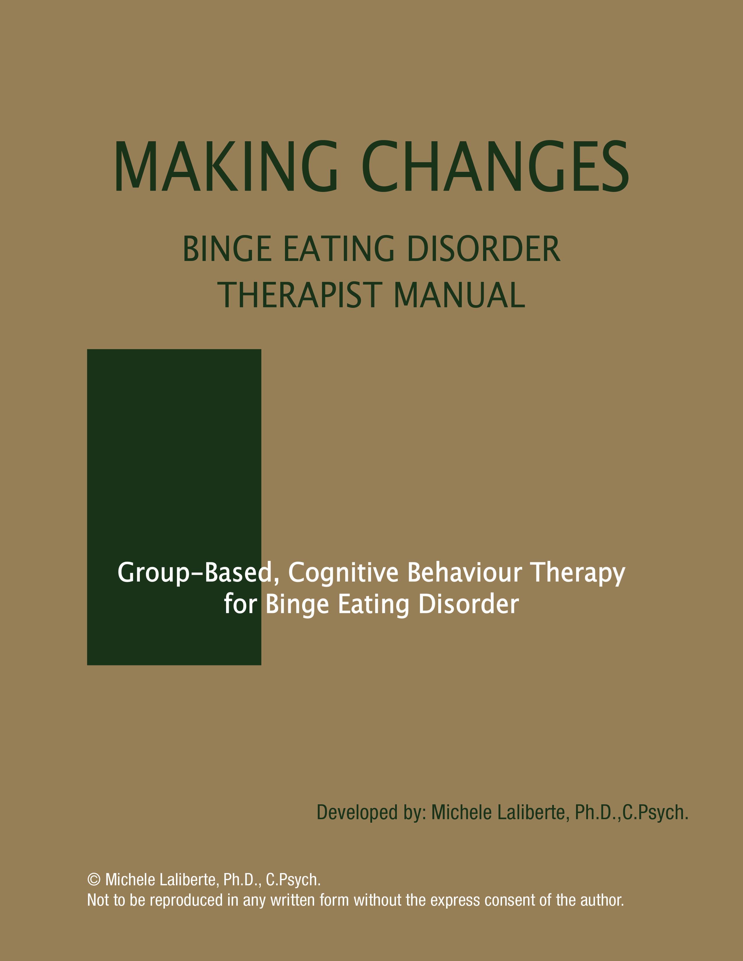 Binge Eating Disorder Therapist Manual
