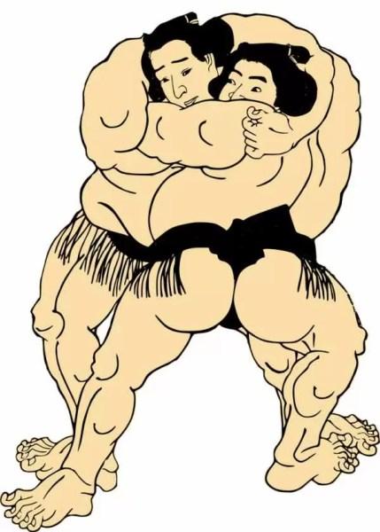 あさが来た・波瑠が炭鉱夫と相撲を取る