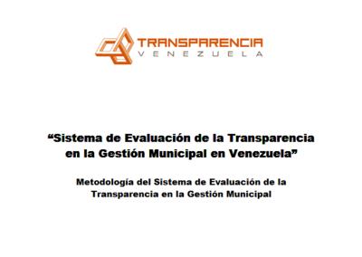 Metodolodía del Sistema de evaluación de Indicadores de Transparencia de Alcaldías