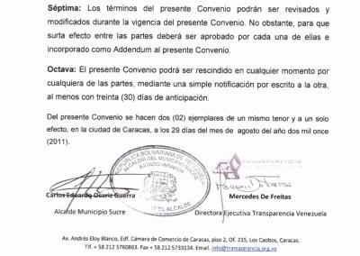 Convenios de transparencia con Alcaldías