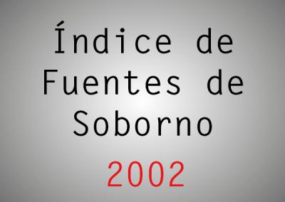 Índice de Fuentes de Soborno (IFS): 2002