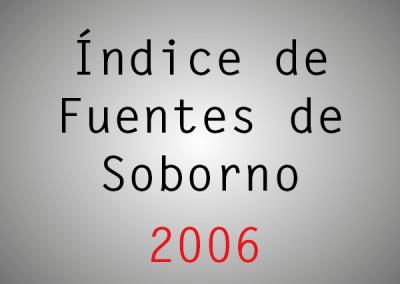 Índice de Fuentes de Soborno (IFS): 2006