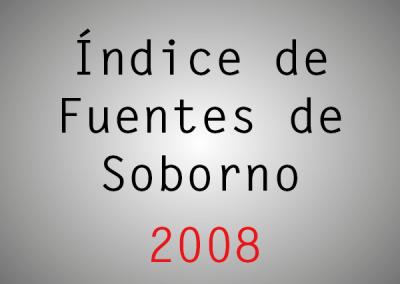 Índice de Fuentes de Soborno (IFS): 2008