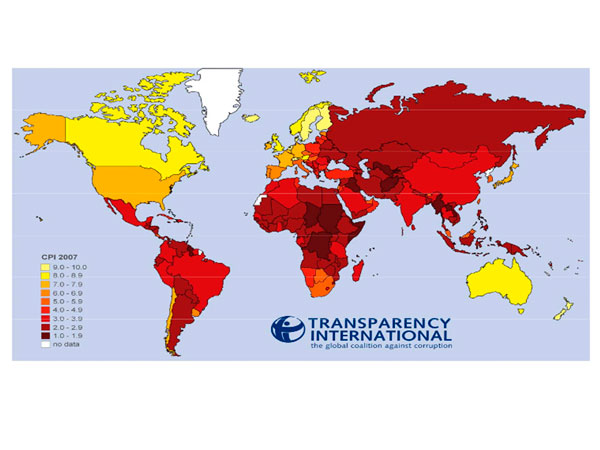Índice de Percepción de la Corrupción (IPC): 2007