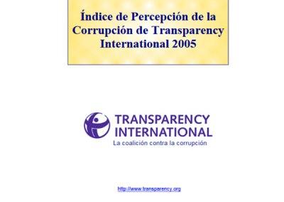 Índice de Percepción de la Corrupción (IPC): 2005