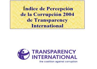 Índice de Percepción de la Corrupción (IPC): 2004