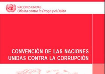 Convención de las Naciones Unidas contra la corrupción