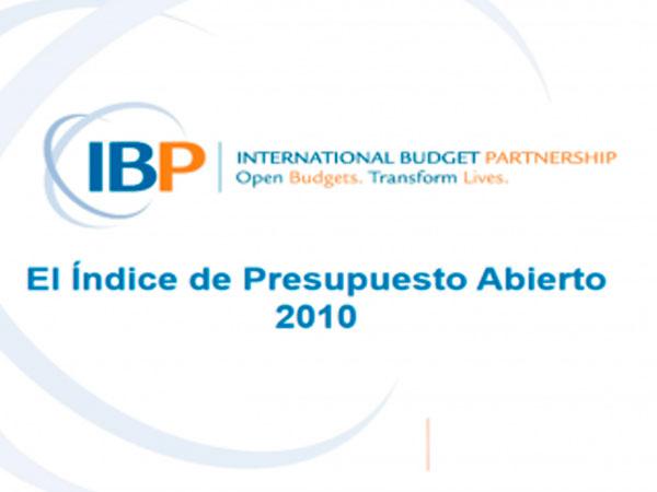 Índice de Presupuesto Abierto 2010