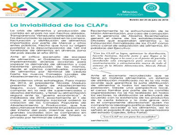 La inviabilidad de los CLAPs